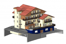 Schizzo 3d albergo